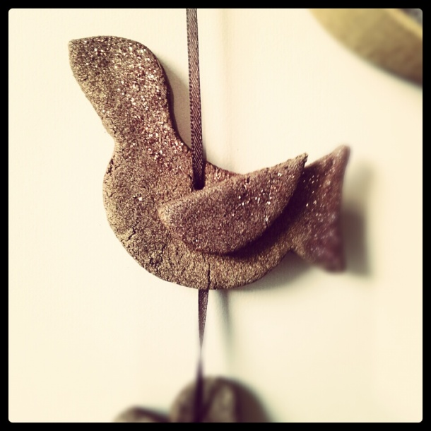 handmade christmas cinnamon decoration birds